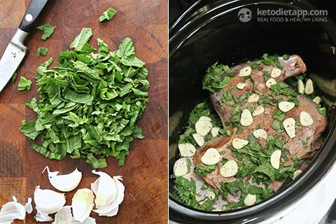 Slow-Cooked Lamb with Mint & Green Beans