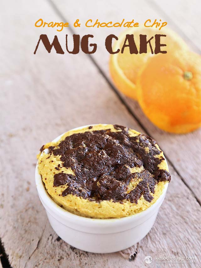 Orange & Chocolate Chip Mug Cake