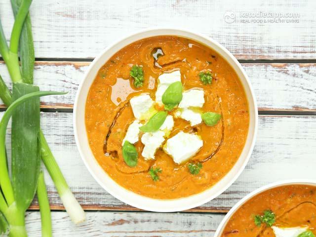 Creamy Red Gazpacho | The KetoDiet Blog