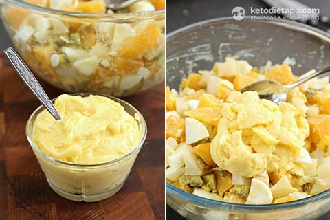 "|Low-Carb ""Potato"" Salad"
