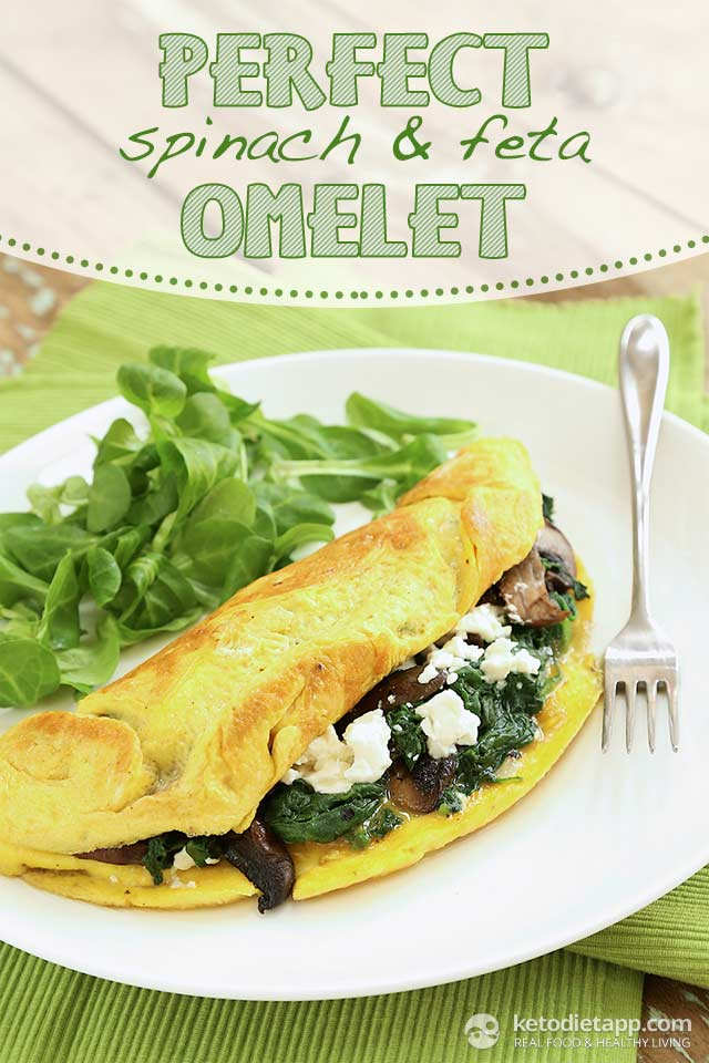Perfect Spinach & Feta Omelet | The KetoDiet Blog