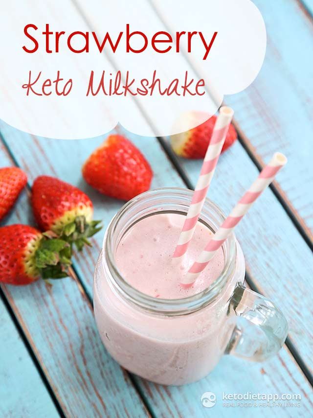 Strawberry Keto Milkshake Ketodiet Blog