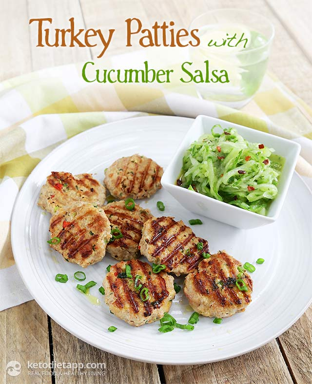 The KetoDiet Cookbook: Turkey Patties with Cucumber Salsa