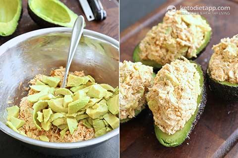 Cajun Chicken Stuffed Avocado