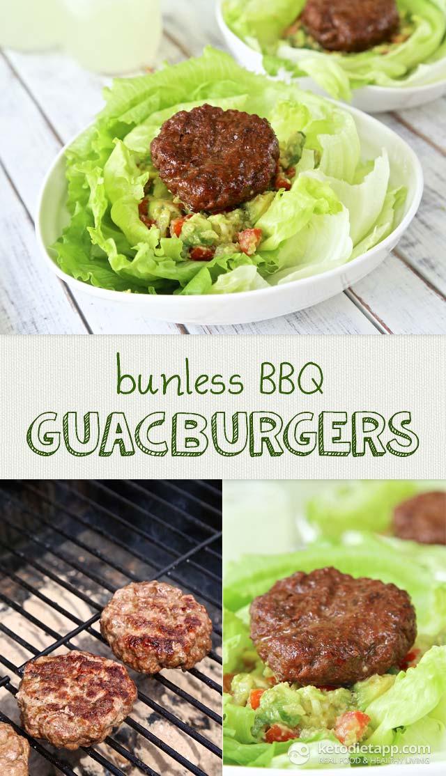 Bunless BBQ GuacBurgers