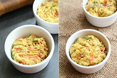 Keto Salmon & Cream Cheese Mug Muffin