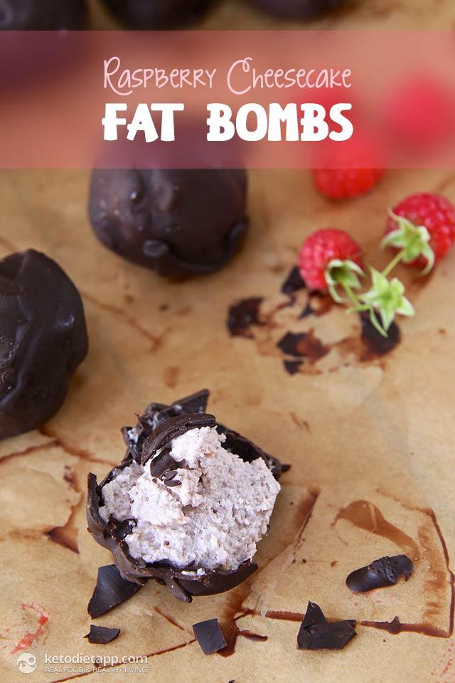 Raspberry Cheesecake Fat Bombs
