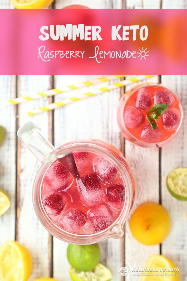 Summer Keto Raspberry Lemonade | The KetoDiet Blog