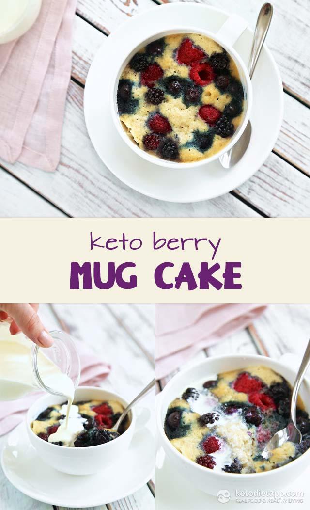 Keto Berry Mug Cake