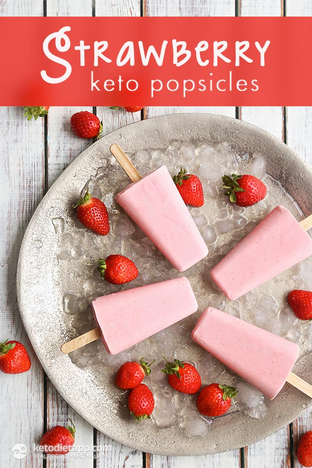 Strawberry Keto Popsicles | The KetoDiet Blog