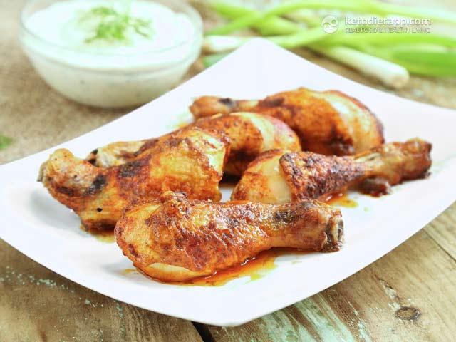 Crispy Chicken Drumsticks The Ketodiet Blog