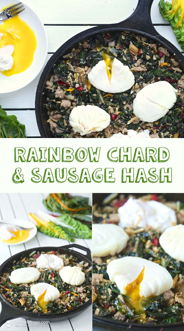 Low-Carb Rainbow Chard & Sausage Hash