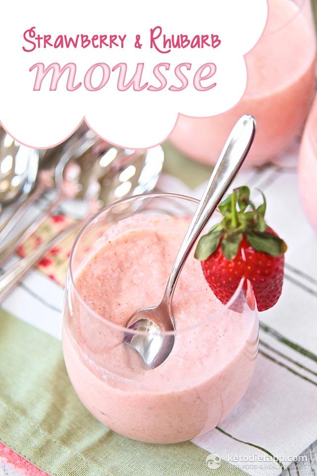 Strawberry & Rhubarb Mousse