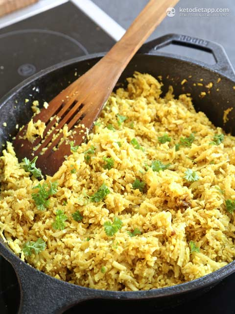 Low-Carb, So Simple: Yellow Cauliflower Couscous