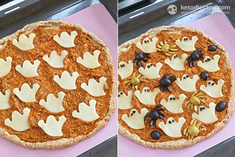 Halloween Keto Pizza