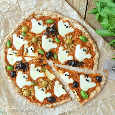 |Halloween Keto Pizza
