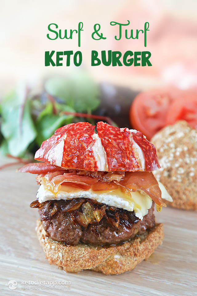 Low-Carb Surf & Turf Burger