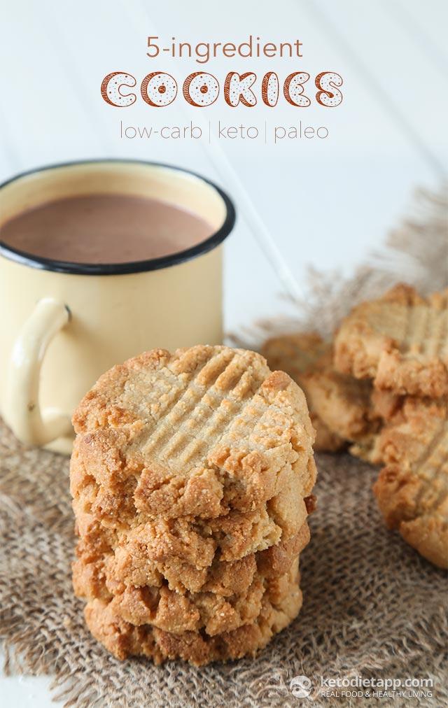 5 Ingredient Keto Cookies | The KetoDiet Blog