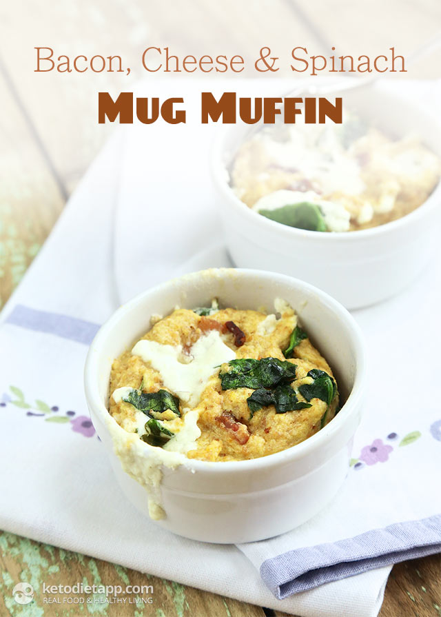 Bacon, Cheese and Spinach Mug Muffin
