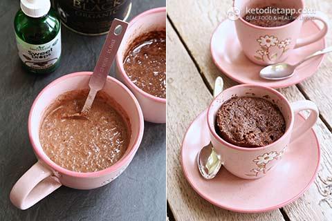 Keto Chocolate & Coconut Mug Cake