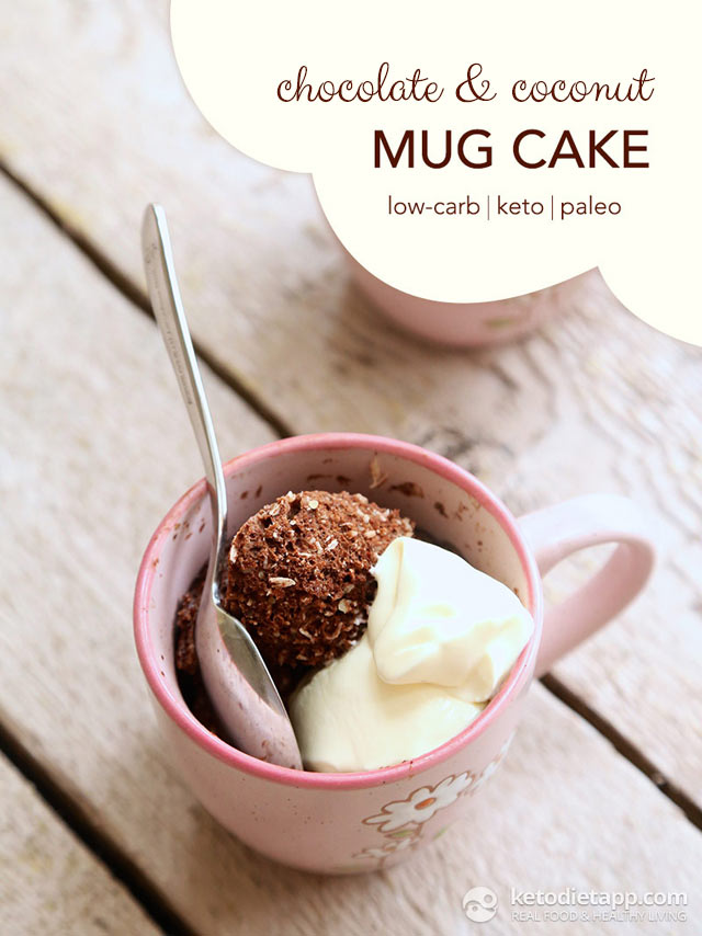 |Keto Chocolate & Coconut Mug Cake