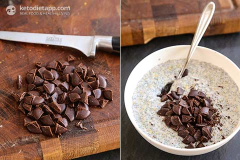 Chocolate & Orange Keto Chia Pudding