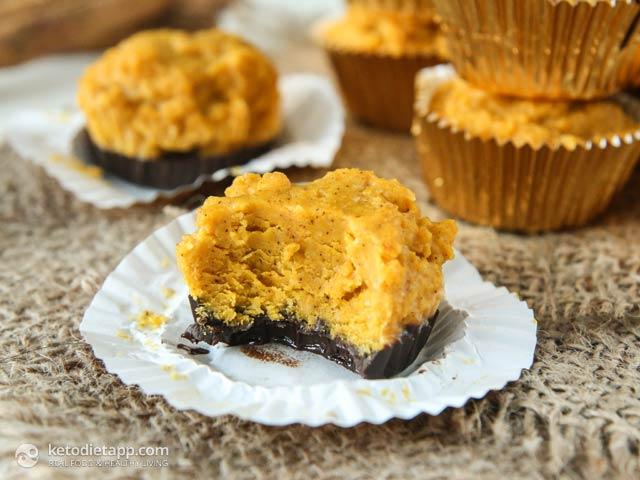 Pumpkin Pie Chocolate Fat Bombs | The KetoDiet Blog