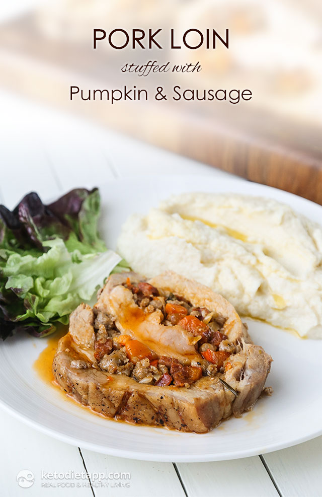 Pork Loin Stuffed with Pumpkin & Sausage
