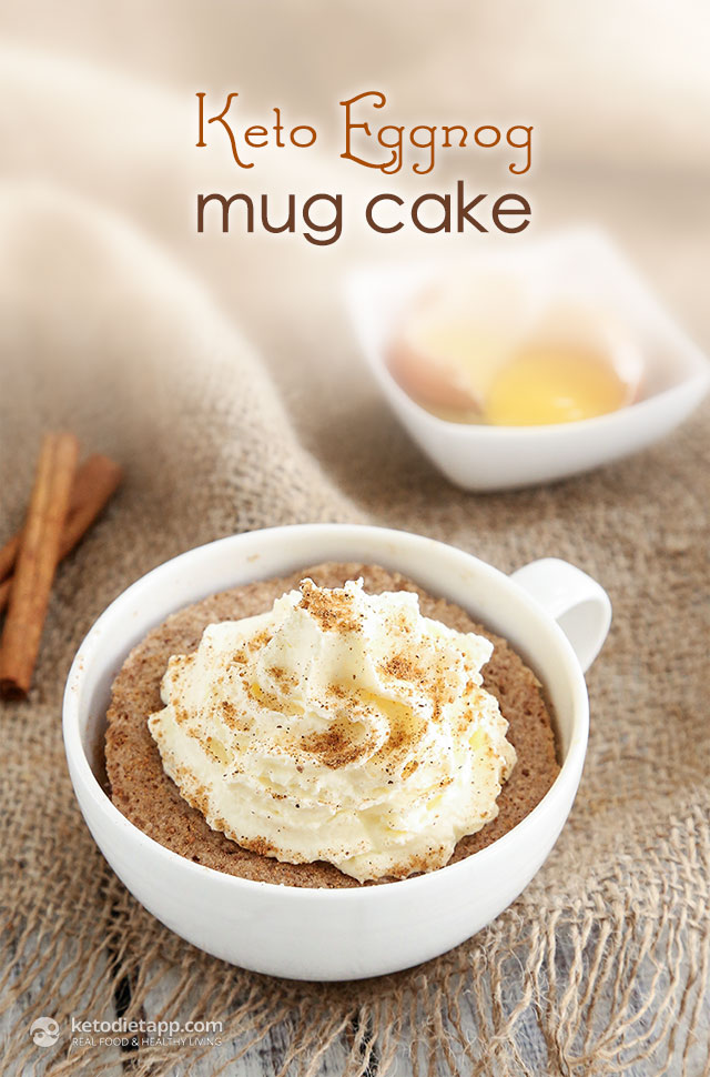 Keto Eggnog Mug Cake | The KetoDiet Blog