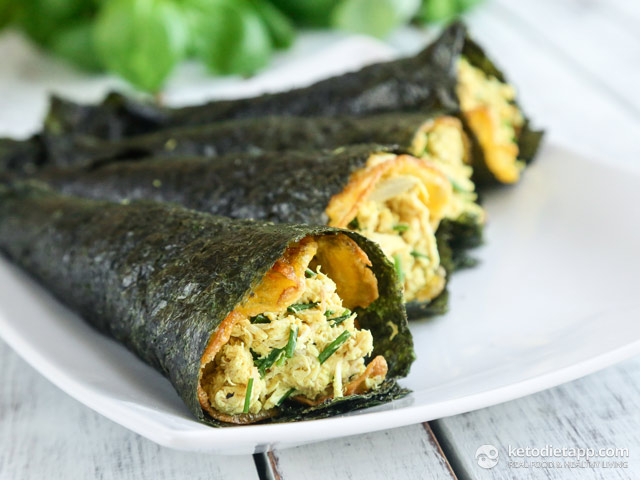 Keto Curried Chicken Hand Rolls