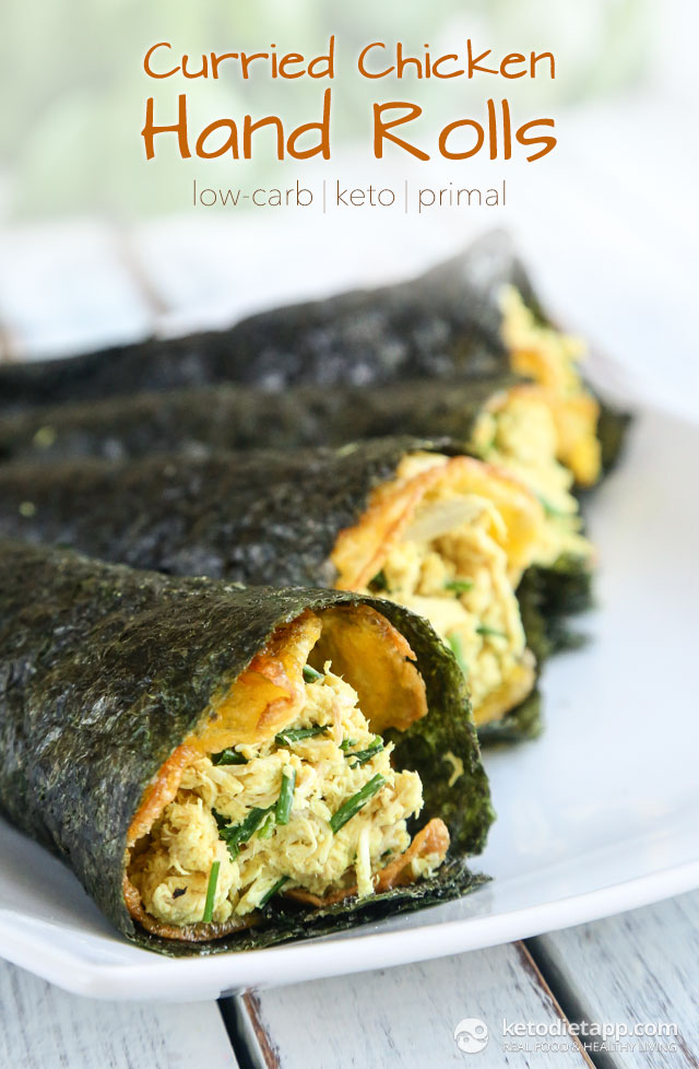 Keto Curried Chicken Sushi Hand Rolls