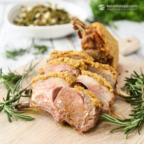 Rack of Lamb with Grain-Free Herb & Mustard Crust