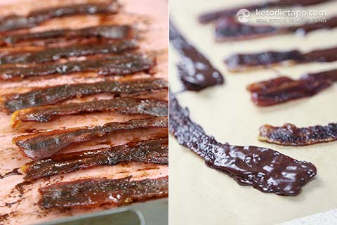 Chocolate Dipped Candied Bacon