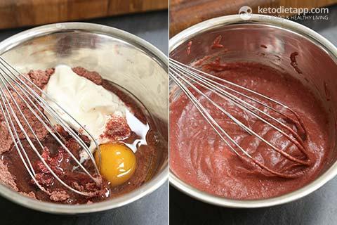 Low-Carb Red Velvet Mug Cake