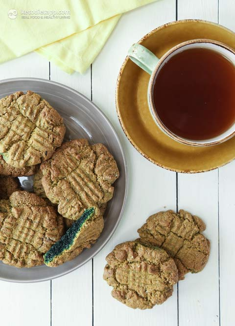 5 Ingredient Keto Green Cookies
