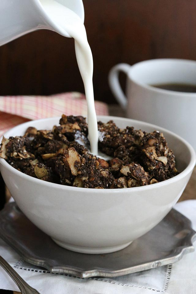 Low-Carb Chocolate & Orange Spiced Granola