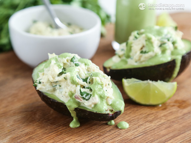 Book Review: Quick & Easy Ketogenic Cooking (Crab Stuffed Avocado)