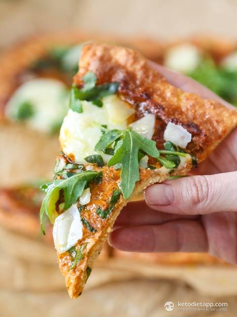 Fat Head Pizza with Mozzarella, Tomato & Rocket