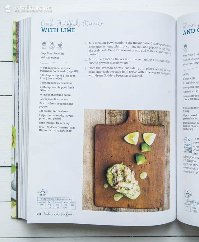 |Book Review: Quick & Easy Ketogenic Cooking (Crab Stuffed Avocado)