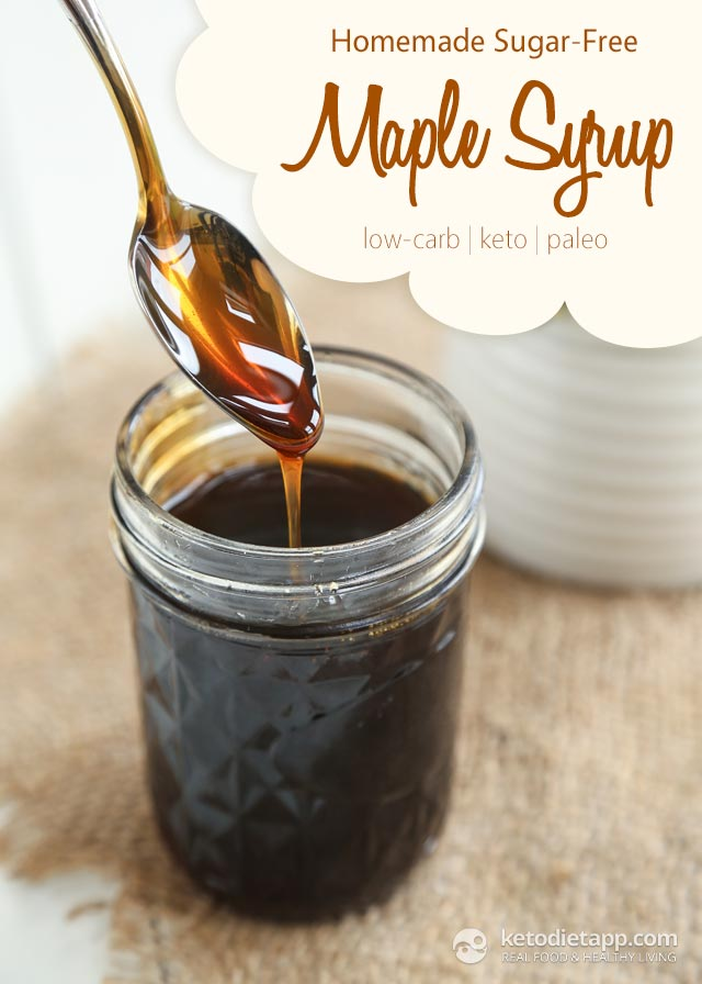 Homemade Sugar-Free Maple Flavored Syrup