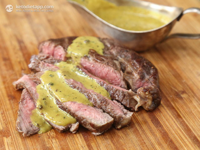 Steak With Quick Mustard Peppercorn Sauce Ketodiet Blog