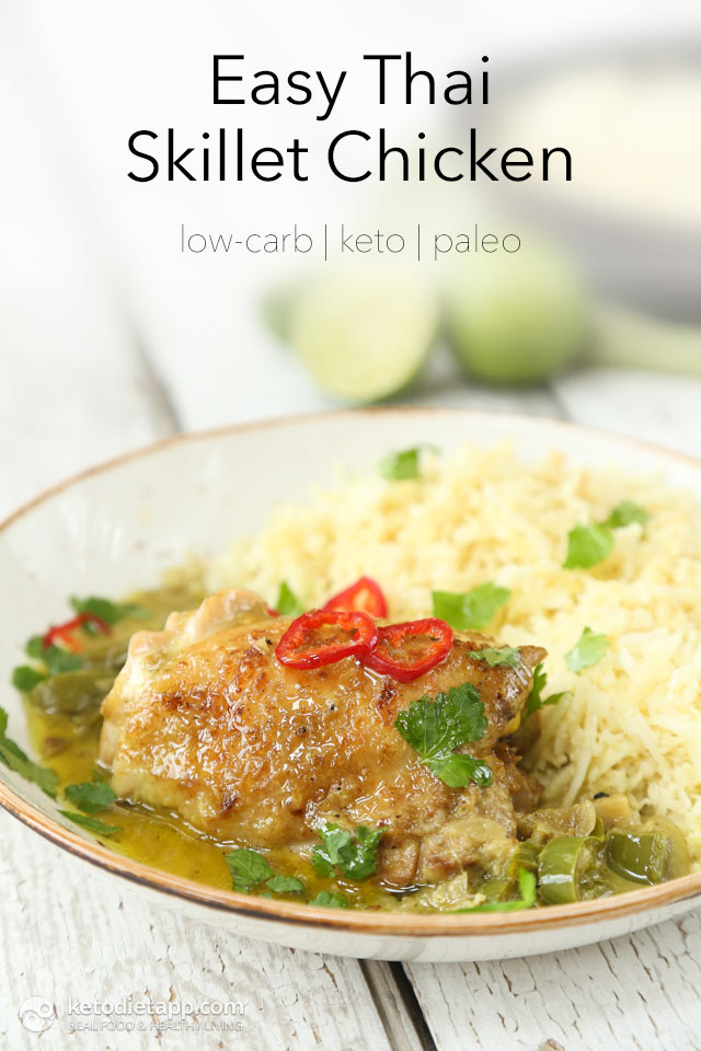 Easy Keto Thai Chicken Skillet