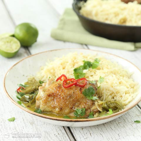 Easy Keto Thai Skillet Chicken