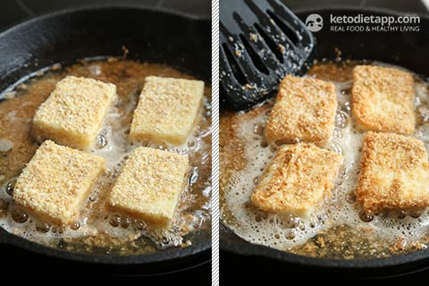 Keto Saganaki Greek Fried Cheese
