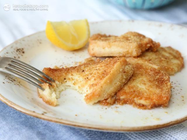Keto Saganaki Greek Fried Cheese