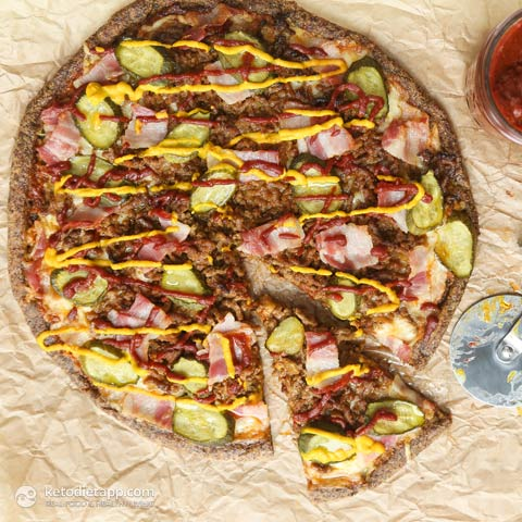 |Keto Bacon Cheeseburger Pizza