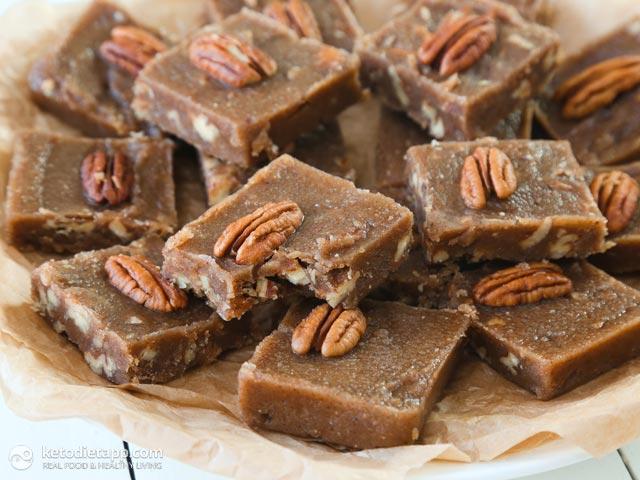 Maple & Pecan Fudge Fat Bombs | The KetoDiet Blog