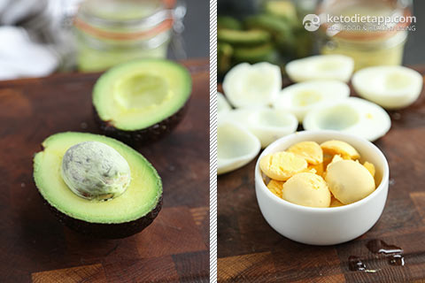 Avocado & Egg Fat Bombs and Deviled Eggs