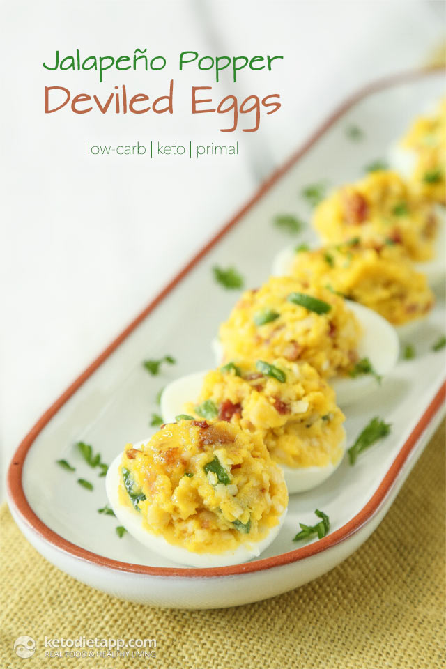 Keto Jalapeño Popper Deviled Eggs