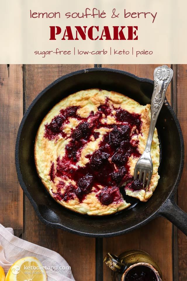 Keto Lemon Soufflé & Berry Pancake